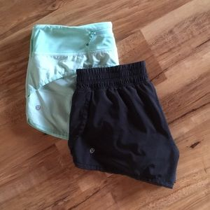 Lululemon Bundle of 2 shorts size 6 Black Lot